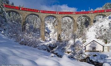 Самая красивая железная дорога в Альпах