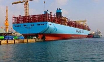 Maersk Line приняла новый крупнейший в мире контейнеровоз
