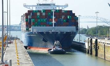 Самый большой контейнеровоз пршел через расширенный Панамский канал