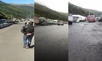 Over 1,000 Armenian trucks remain in Upper Lars